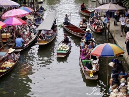 Marché flottant, Bangkok