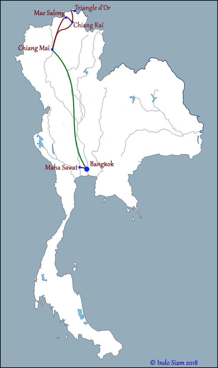 Bangkok et le Nord authentique
