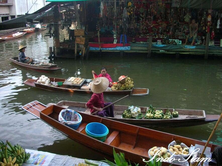 Marché flottant de Damnoën Saduak