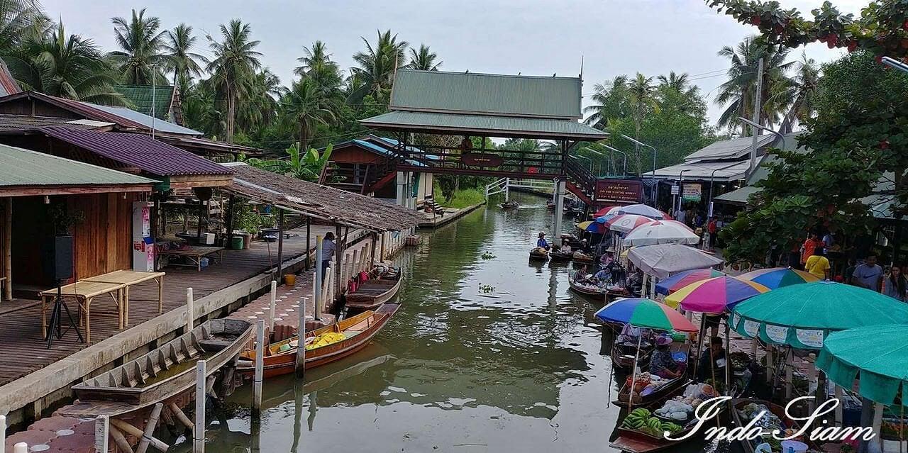 Marché flottant de Tha Kha
